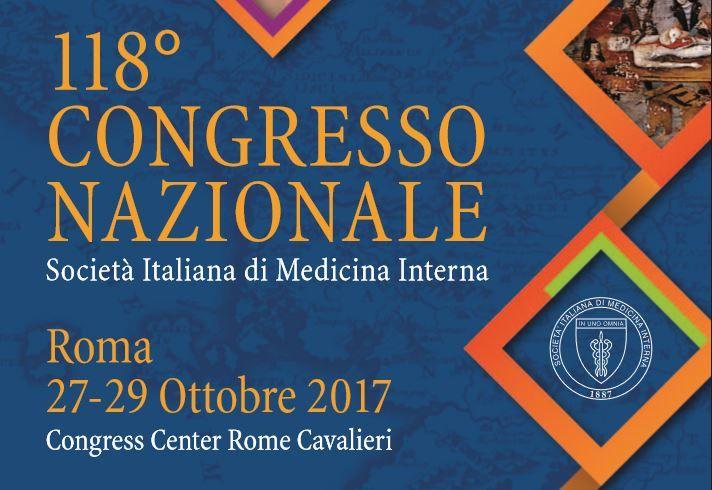 118° CONGRESSO NAZIONALE Società Italiana di Medicina Interna Roma 2017